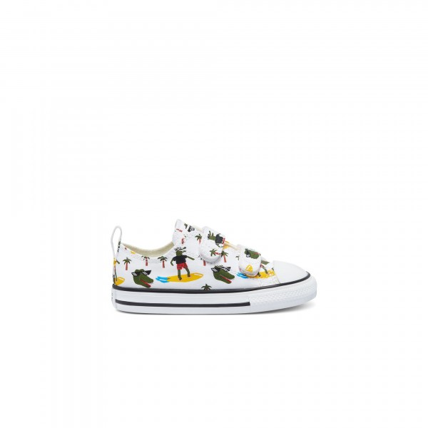 Toddlers' Converse Croco Surf Easy-On Chuck Taylor All Star 2V Ox (White/Multi/Black)