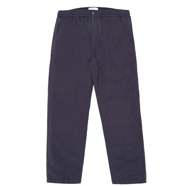 Universal Works Cotton Linen Panama Track Trouser (Navy)