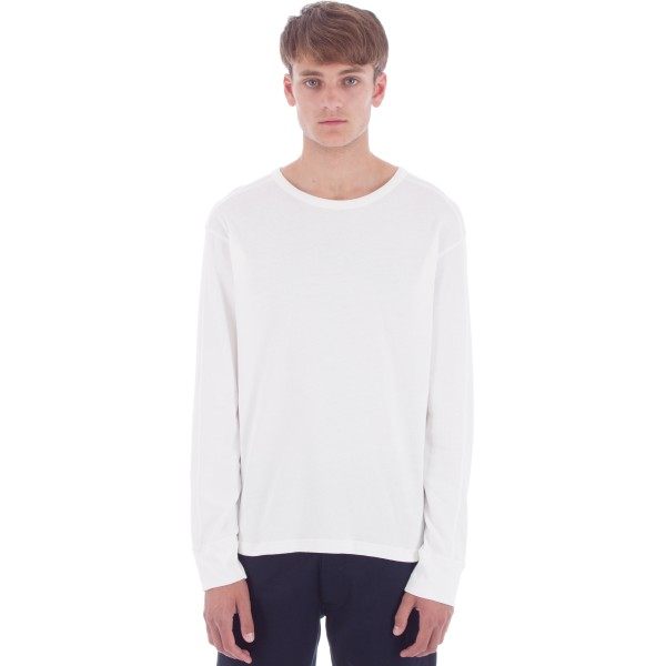 Universal Works Home Long Sleeve T-Shirt (Natural Lux Jersey Cotton)