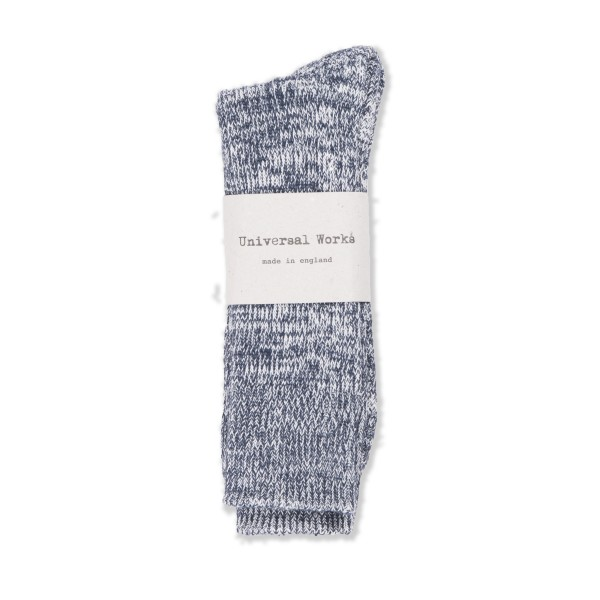 Universal Works Marl Sock (Navy)