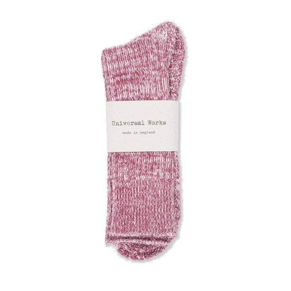 Universal Works Marl Sock (Red)