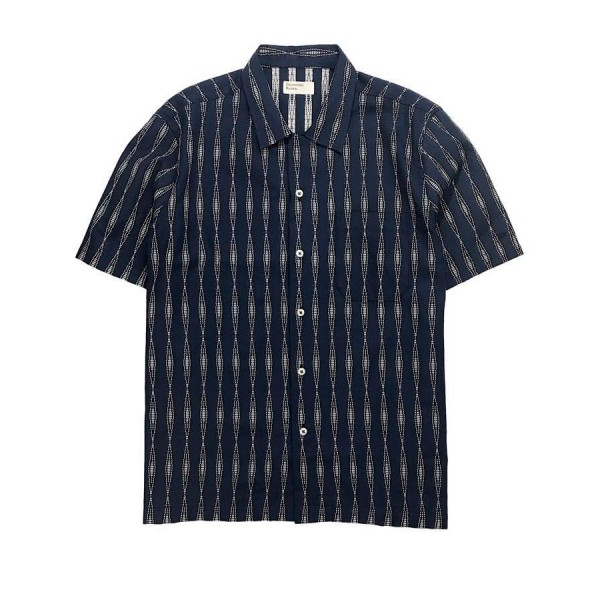 Universal Works Road Shirt (Navy Congo Stripe)