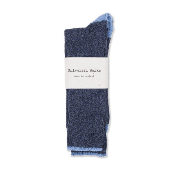 Universal Works Simple Sock (Navy)