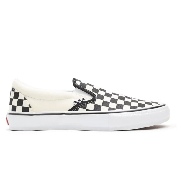 Vans Skate Checkerboard Classics Slip-On (Black/Off White)