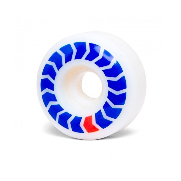 Wayward Wheel Co. Chevrons Skateboard Wheels 50mm (Blue/Red)