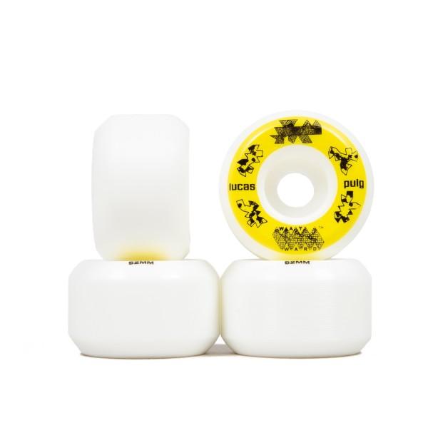 Wayward Wheel Co. Lucas Puig Funnel Pro Skateboard Wheels 52mm (White/Yellow)