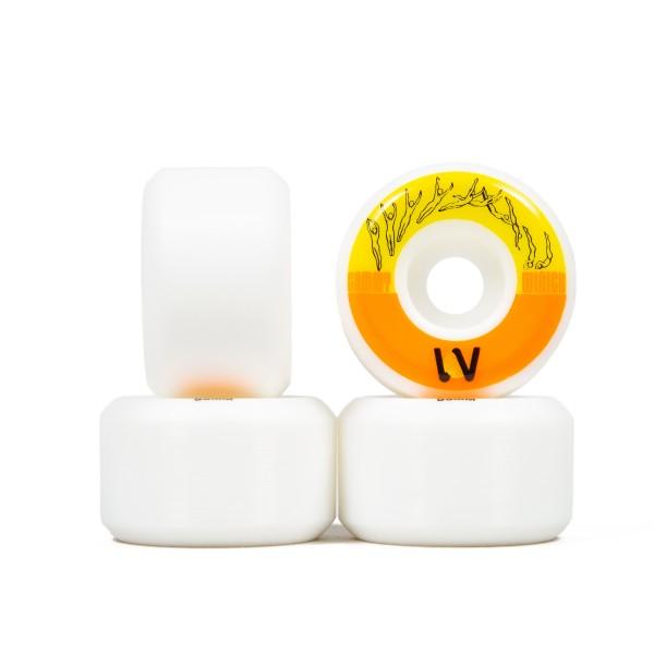 Wayward Wheel Co. Sammy Winter Funnel Pro Skateboard Wheels 53mm (White/Orange)