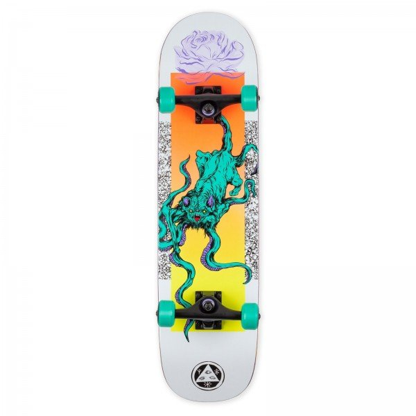 """Welcome Bactocat Bunyip Complete Skateboard 8.0"""" (White)"""