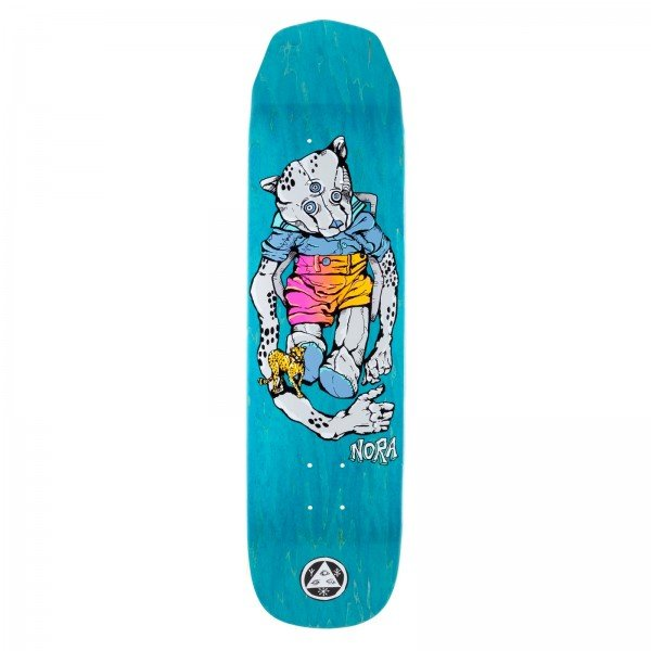 "Welcome Nora Vasconcellos Teddy Wicked Princess Skateboard Deck 8.125"" (Grey/Various Wood Stains)"