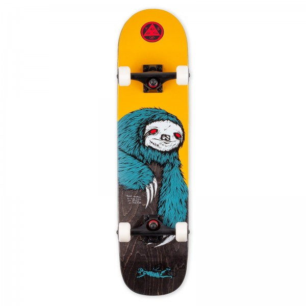 """Welcome Sloth Bunyip Complete Skateboard 7.75"""" (Gold/Black Stain)"""