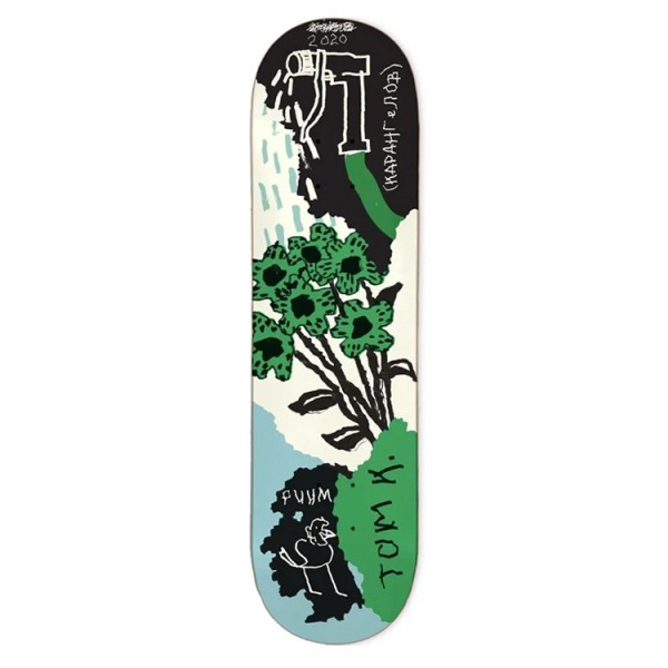 "WKND Tom Karangelov Tom's Garden Skateboard Deck 8.5"""