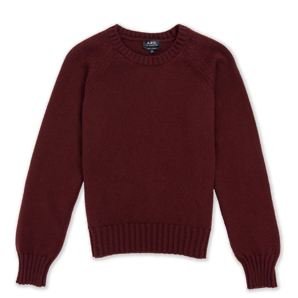 Women's A.P.C. Alyssa Pullover Jumper (Bordeaux)