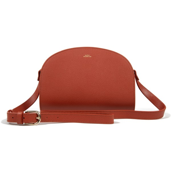Women's A.P.C. Half-Moon Handbag (Brique)