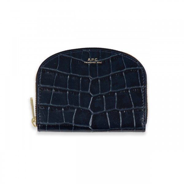 Women's A.P.C. Half-Moon Wallet (Dark Navy)