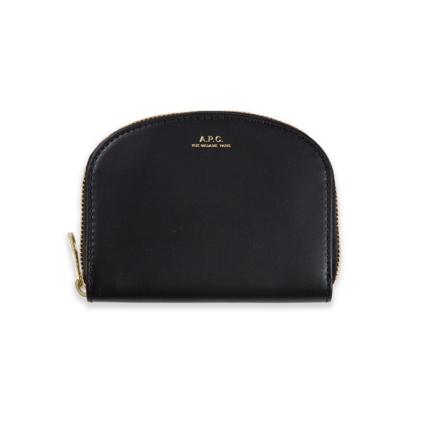 Women's A.P.C. Half-Moon Wallet (Noir)