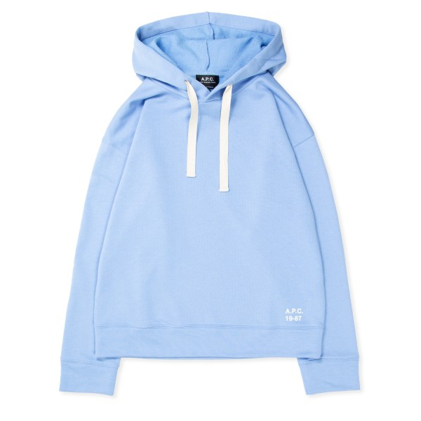 Women's A.P.C. Lyn Pullover Hooded Sweatshirt (Blue)