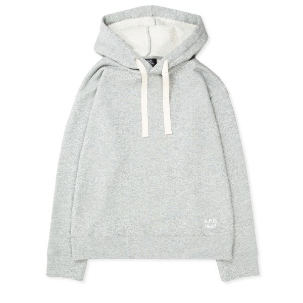 Women's A.P.C. Lyn Pullover Hooded Sweatshirt (Heather Grey)