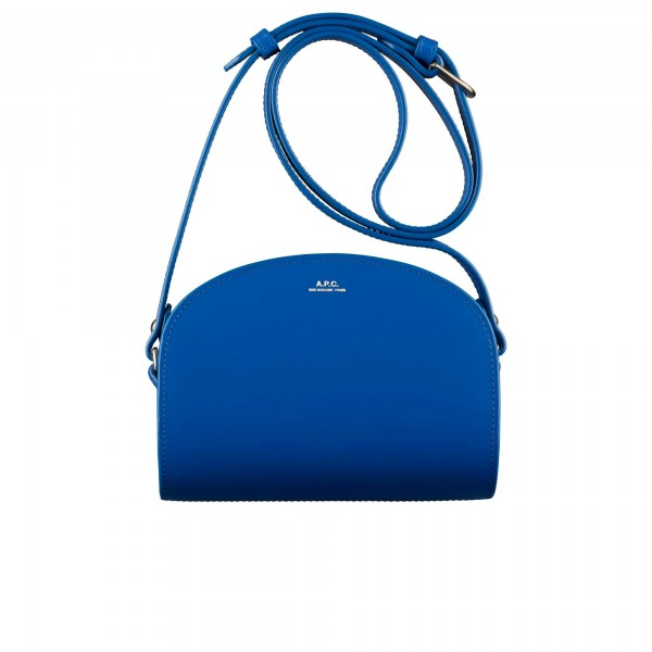 Women's A.P.C. Mini Demi-Lune Bag (Blue)