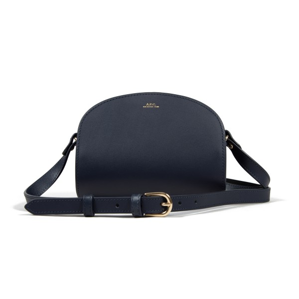 Women's A.P.C. Mini Half-Moon Handbag (Dark Navy)