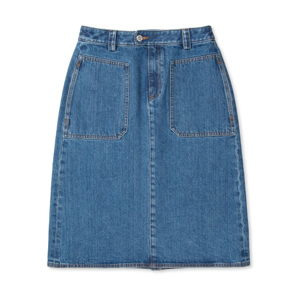Women's A.P.C. Nevada Skirt (Dark Blue)