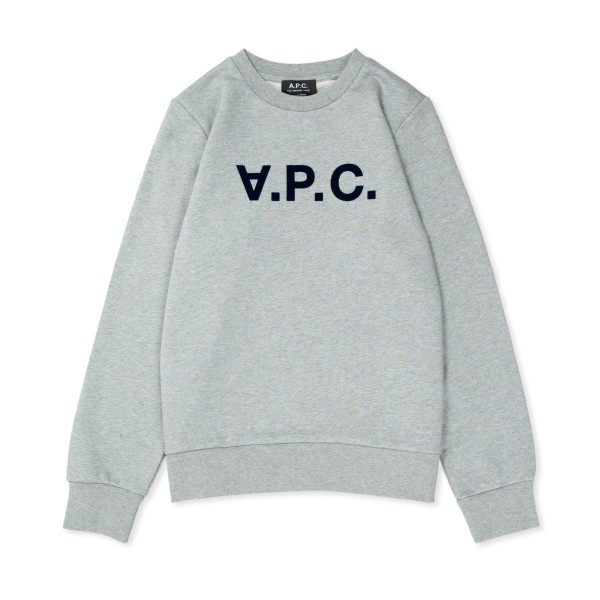 Women's A.P.C. Viva Crew Neck Sweatshirt (Heather Grey)