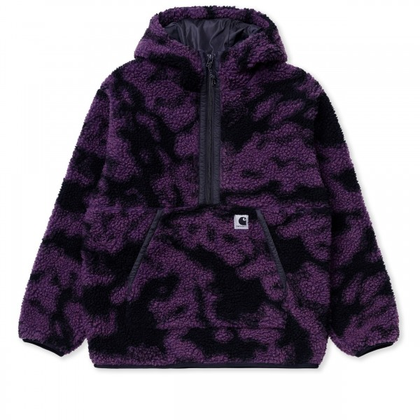 Women's Carhartt WIP Hooded Loon Fleece Liner (Camo Blur, Purple)