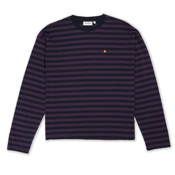 Women's Carhartt WIP Parker Long Sleeve T-Shirt (Dark Navy/Boysenberry)