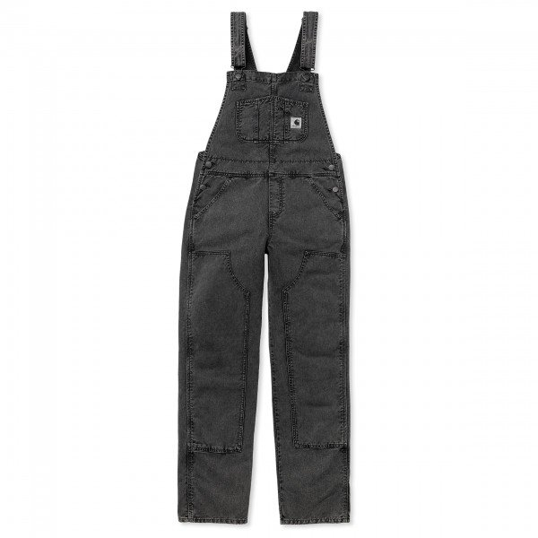 Women's Carhartt WIP Sonora Overall (Black Worn Washed)