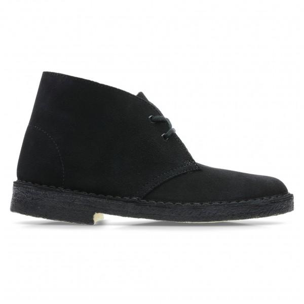 Women's Clarks Originals Desert Boot (Black Suede)