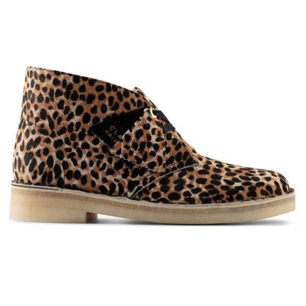 Women's Clarks Originals Desert Boot (Leopard Print Pony)