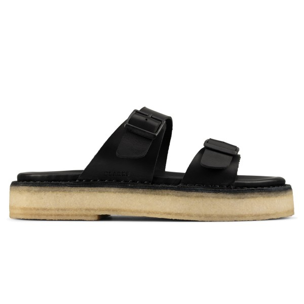 Women's Clarks Originals Desert Sandal (Black Leather)