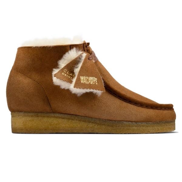 Women's Clarks Originals Wallabee Boot (Tan Warmlined Leather)