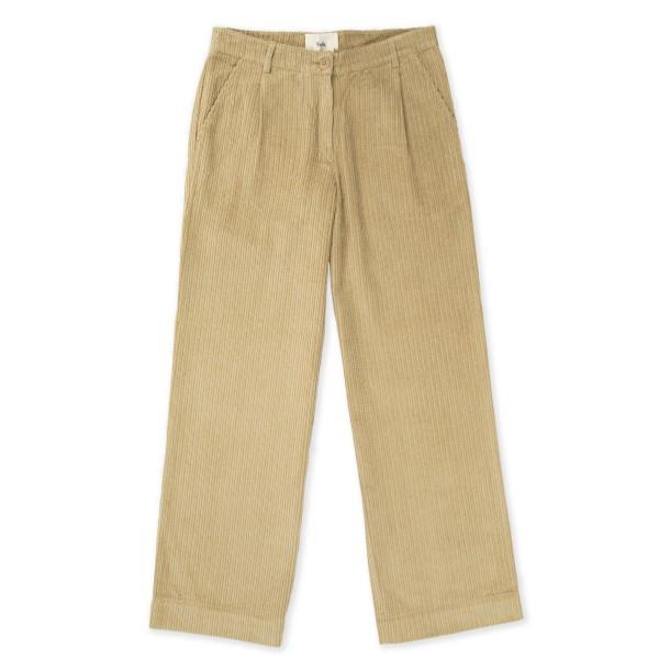 Women's Folk Long Wide Pant (Stone Cord)