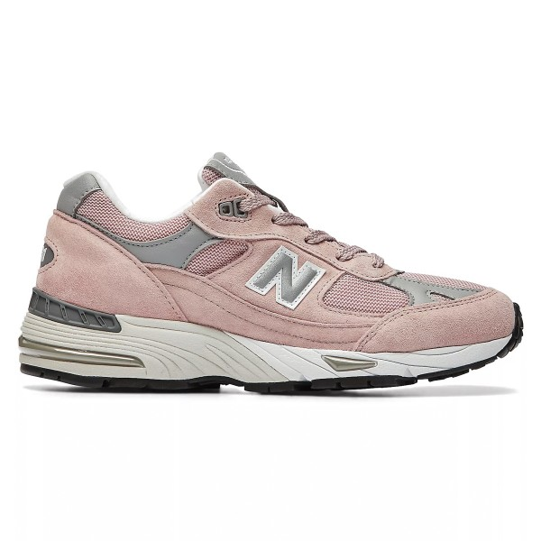 Women's New Balance 991 'Made In UK' (Shy Pink/Silver)