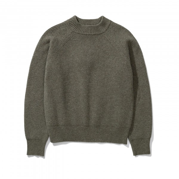 Women's Norse Projects Evelina Lambswool Jumper (Ivy Green)