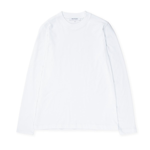 Women's Norse Projects Gro Standard Cotton Long Sleeve T-Shirt (White)