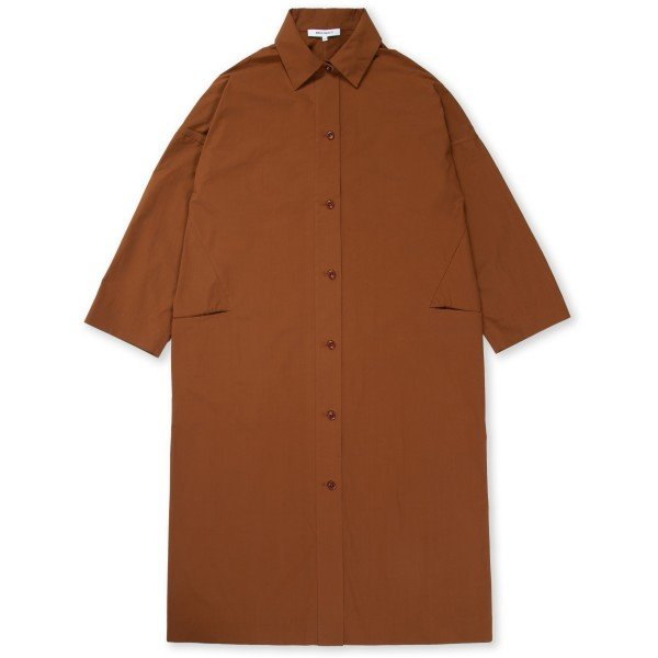 Women's Norse Projects Milena Heavy Poplin Dress (Madder Brown)