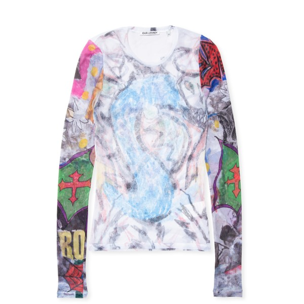 Women's Our Legacy Super Slim Jersey Long Sleeve (Dragon Vs Skeletorn Print)