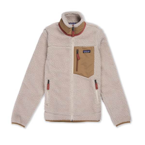Women's Patagonia Classic Retro-X Fleece Jacket (Natural w/Nest Brown)