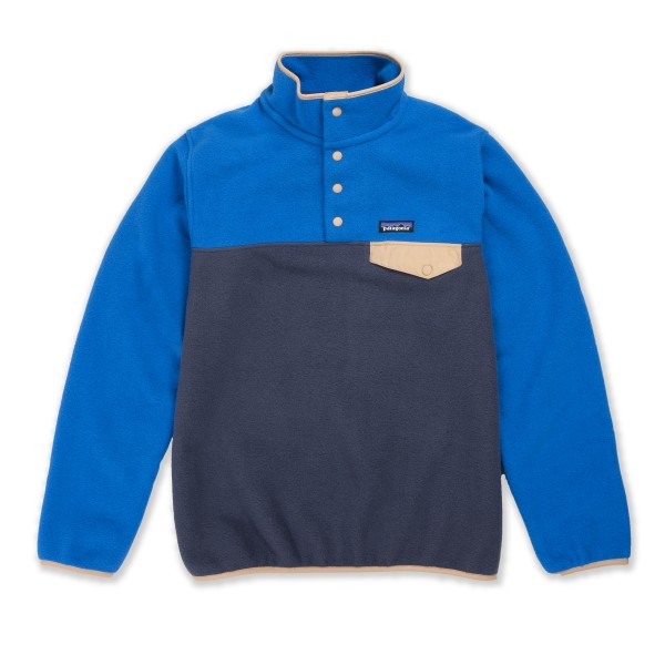 Women's Patagonia LW Synchilla Snap-T Pullover Fleece (Smolder Blue w/Alpine Blue)
