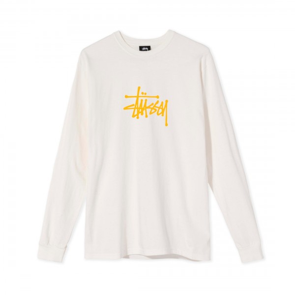 Women's Stussy Basic Pigment Dyed Long Sleeve T-Shirt (Natural)