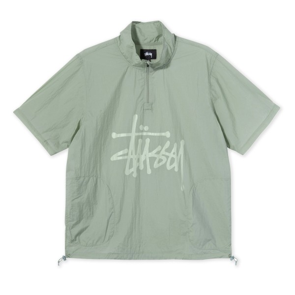 Women's Stussy Nylon Warm Up Shell Shirt (Sage)
