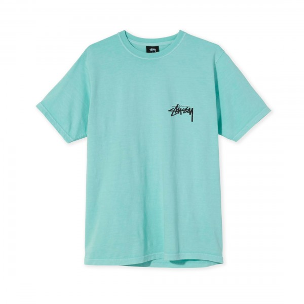 Women's Stussy Peace & Love Pigment Dyed T-Shirt (Aqua)