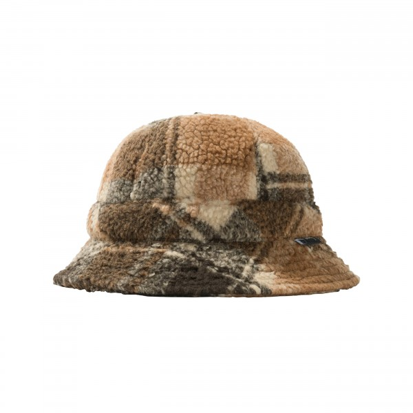 Women's Stussy Sherpa Fleece Bucket Hat (Plaid)