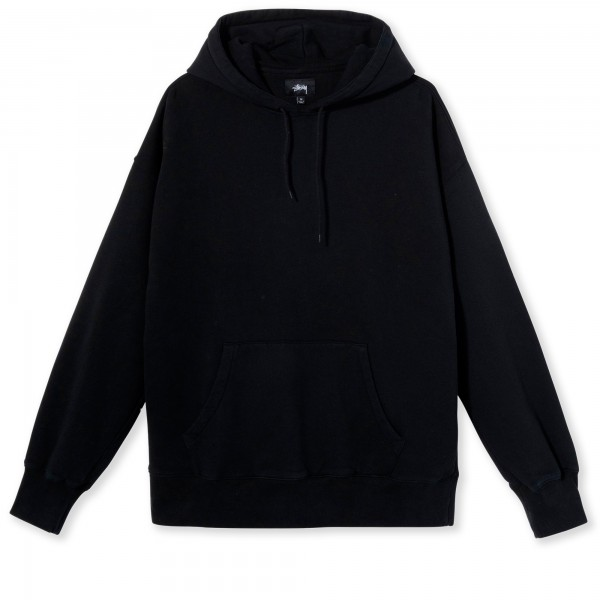 Women's Stussy Slant Fleece Pullover Hooded Sweatshirt (Black)