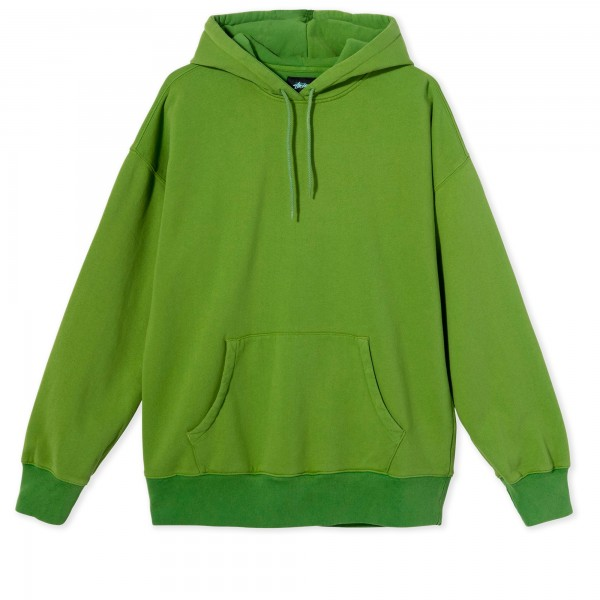 Women's Stussy Slant Fleece Pullover Hooded Sweatshirt (Green)