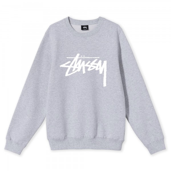Women's Stussy Stock Crew Neck Sweatshirt (Ash Heather)