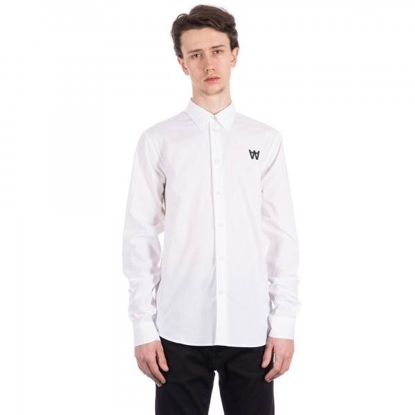 Wood Wood Desmond Long Sleeve Shirt (White)