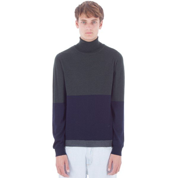 Wood Wood Jaques Turtleneck (Dark Green/Navy)