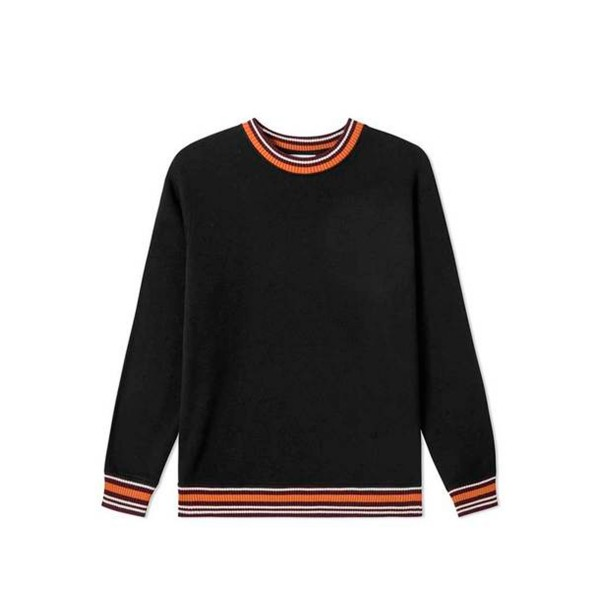 Wood Wood Nathan Ribbed Crew Neck Sweatshirt (Black)